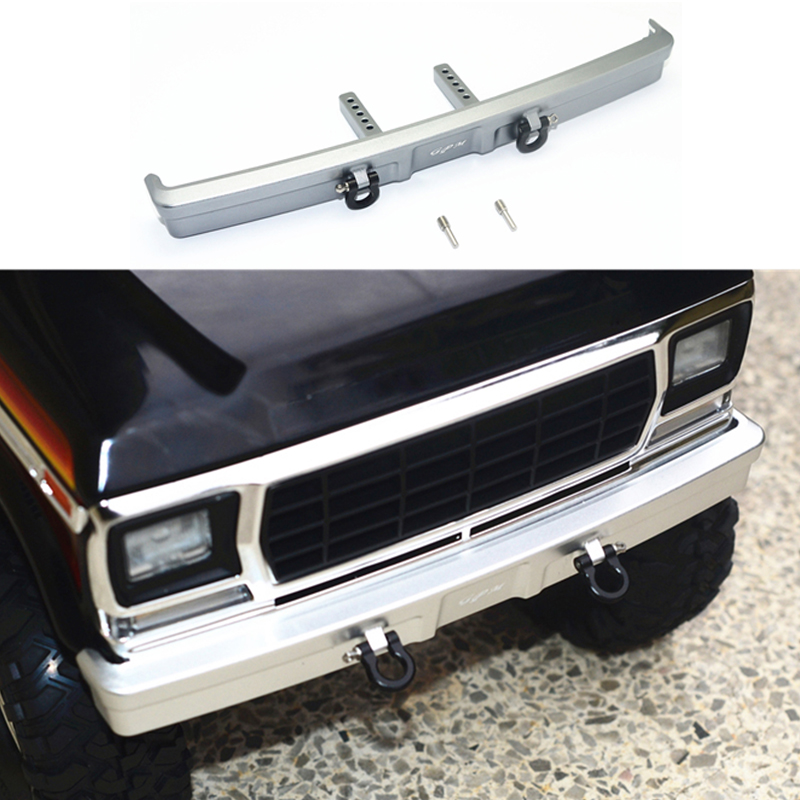 Front /rear Bumper Set For Traxxas Trx4 Ford Bronco 1/10 Rc Car Aluminum Bumper Bar + U-hook Diy Model Spare Parts Can Be Repeatedly Remolded.