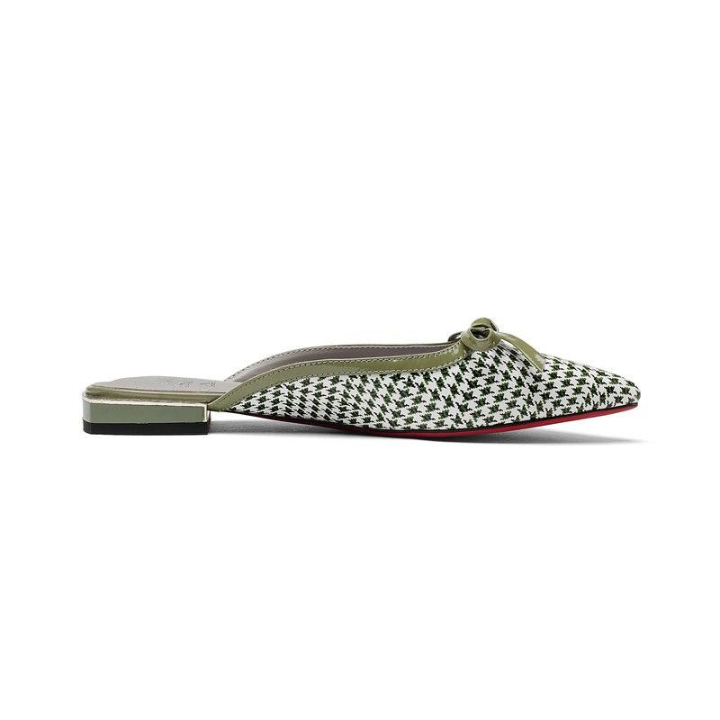 NEMAONE Schoenen vrouw lederen Zomer 2018 groen Buiten slippers sandalen 2 cm lage vierkante hakken meisje schoenen maat 33 34 42 43-in Lage Hakken van Schoenen op  Groep 3