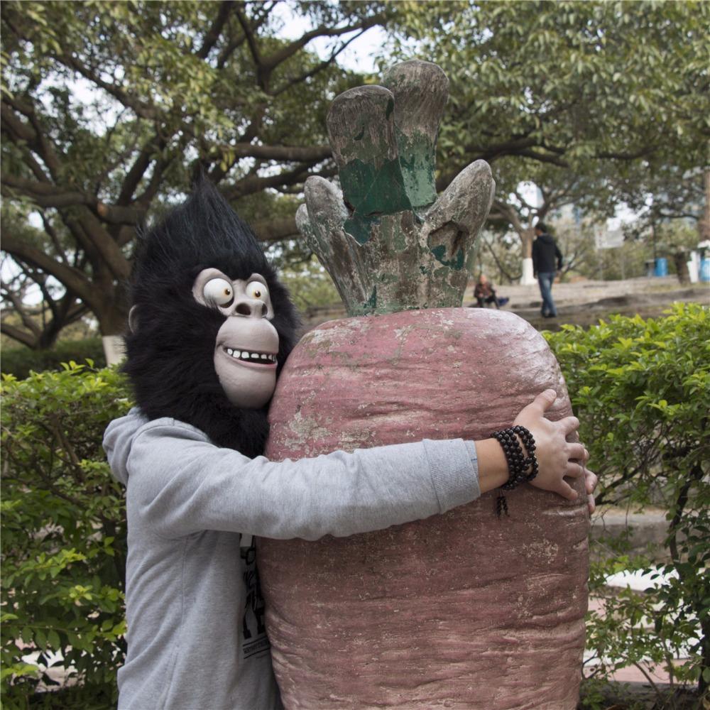 2016 Movie Sing Cosplay Gorilla Johnny Latex  Mask Gorilla Animal Mask Halloween Party (4)