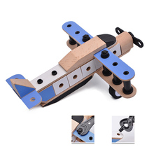 Assemble Fighter Model Toys Building Wooden Environment-friendly Tool Sets Combat Aircraft Diecast DIY Toy Birthday Gift for Kid недорого