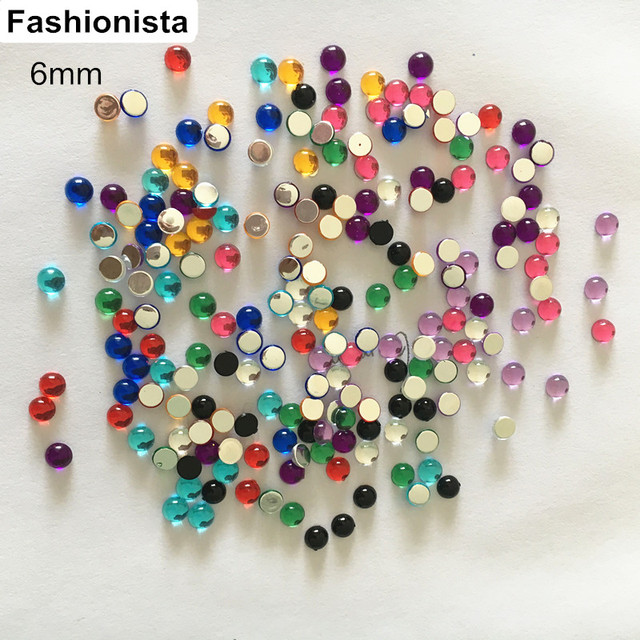 Free Shipping 500 Pcs 6mm Half Round Smooth Cabochons Beads