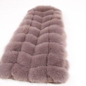 Image 4 - maomaokong 100% Fox Fur Vest Women Real Natural Whole Fox Fur Coat 90CM Long Winter Fur Jacket Waistcoat Plus Size 4XL