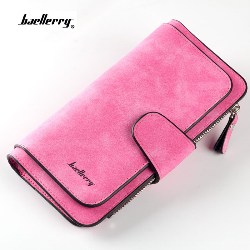 2018 New Fashion Women Wallets Drawstring Nubuck Leather Zipper Wallet Women's Long Design Purse nubuck leather hasp Clutch women wallets drawstring nubuck leather zipper wallet women short purse retro tassels clutch