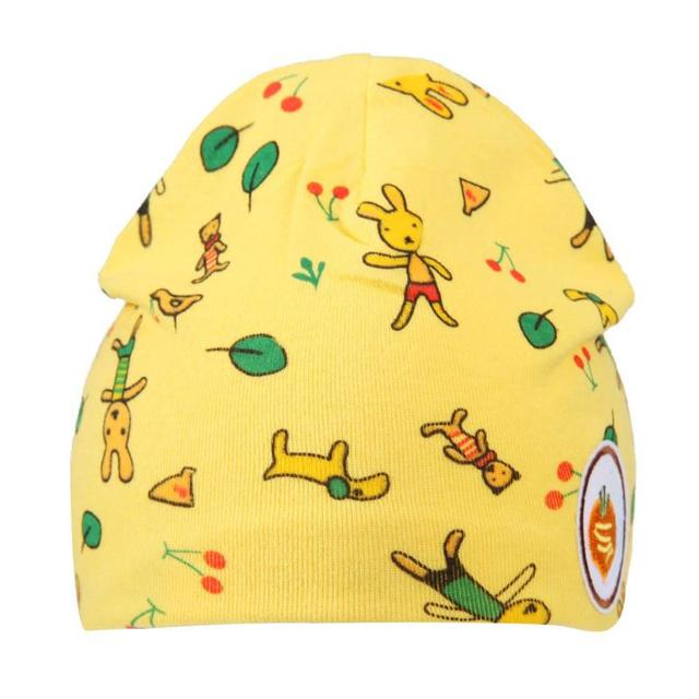 f5b9d641927 Cute Newborn Baby Girl Hat Winter Autumn Warm Hat Cartoon Cotton Cap  Toddler Prints Baby Beanie Boys for 0-18M