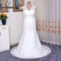 Cap Sleeve Đính Ren Over Satin Cộng Với Kích Thước Wedding Dress 9T3299 Crystals Belt A-Line Illusion Lại Bridal Gowns 26 Wát