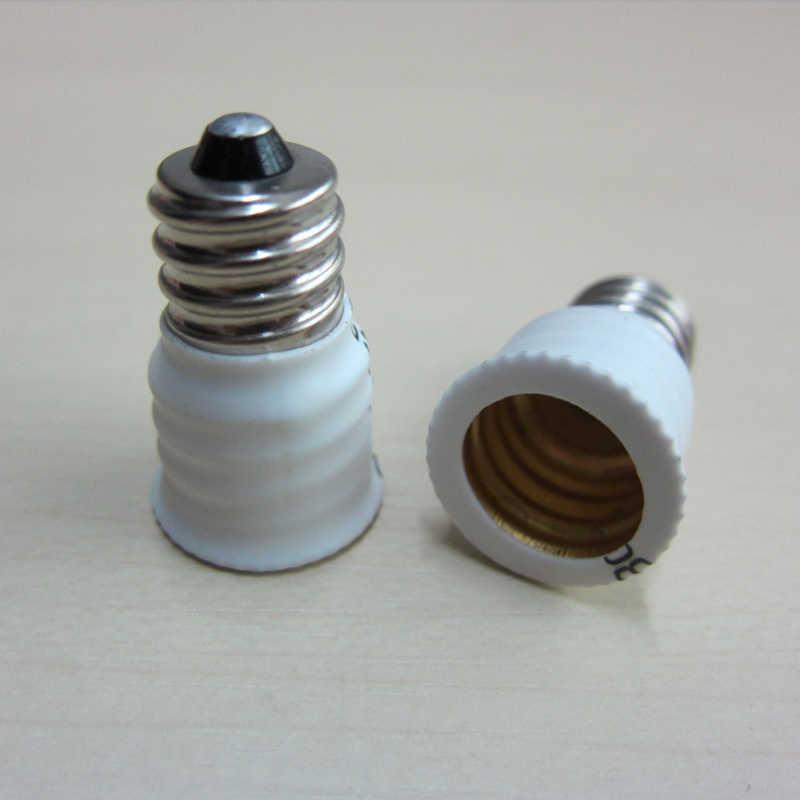 Lowest Price E12 To E14 Lamp Bulbs Holder Adapter Converter Candelabra Base Socket White Hot Sale