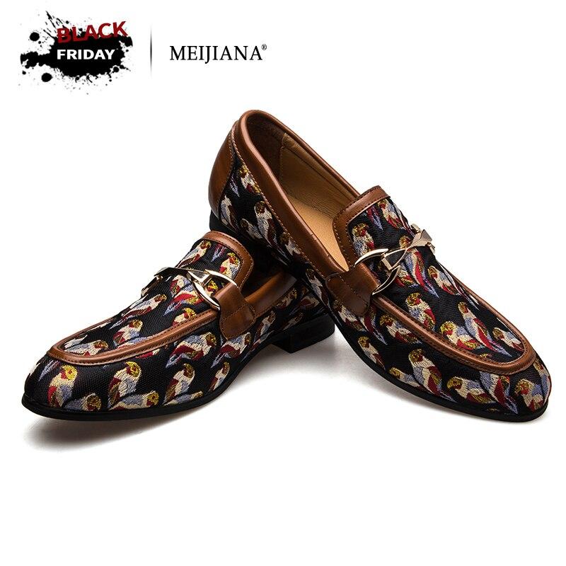 MeiJiaNa/2018 модная удобная повседневная обувь, лоферы, мужская обувь, качественная кожаная обувь, мужская обувь на плоской подошве, Лидер продаж...