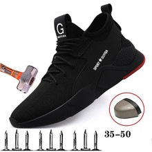 2019 New Breathable Mesh Safety Shoes Men's Comfortable Sports Shoes