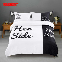 Sisher Duvet cover sets queen white with Pillowcases couples Double King Size Bedclothes set Comforter Quilt Covers Linen kids(China)