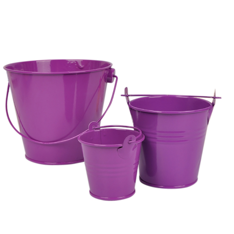 Image 2 - Mini Metal Buckets Colorful Tinplate Pails Candy Boxes Flower Pots Wedding Supply Home Decoration Storage Boxes-in Flower Pots & Planters from Home & Garden