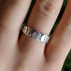 Женское Винтажное кольцо, серебряное кольцо с кристаллами в виде Луны, подарок на свадьбу