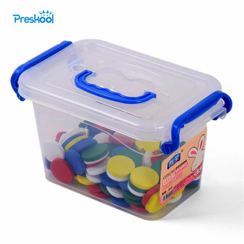 Baby Toy Montessori Round Board Early Childhood Education Preschool Training100 Pcs 5 Colors Kids Toys Brinquedos