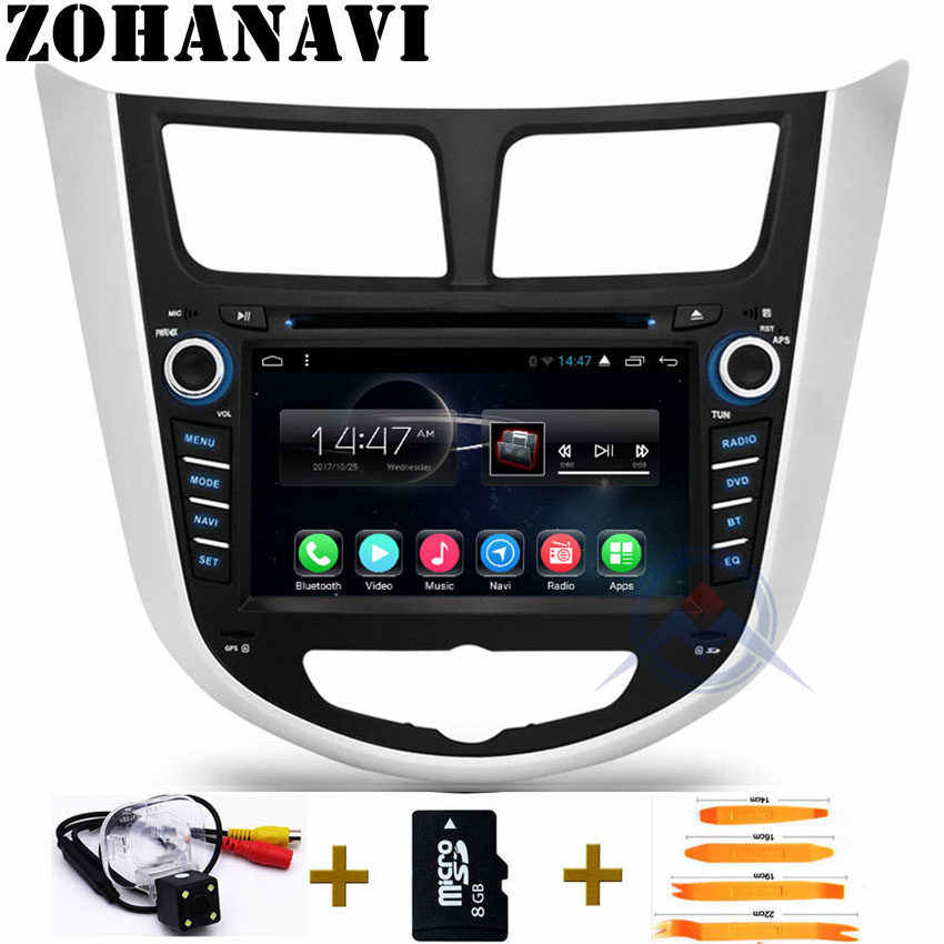 2din Android 9.0 RAM 2Gb CAR DVD player for Hyundai Solaris accent Verna car gps navigation RDS radio tape recorder BT WIFI Map