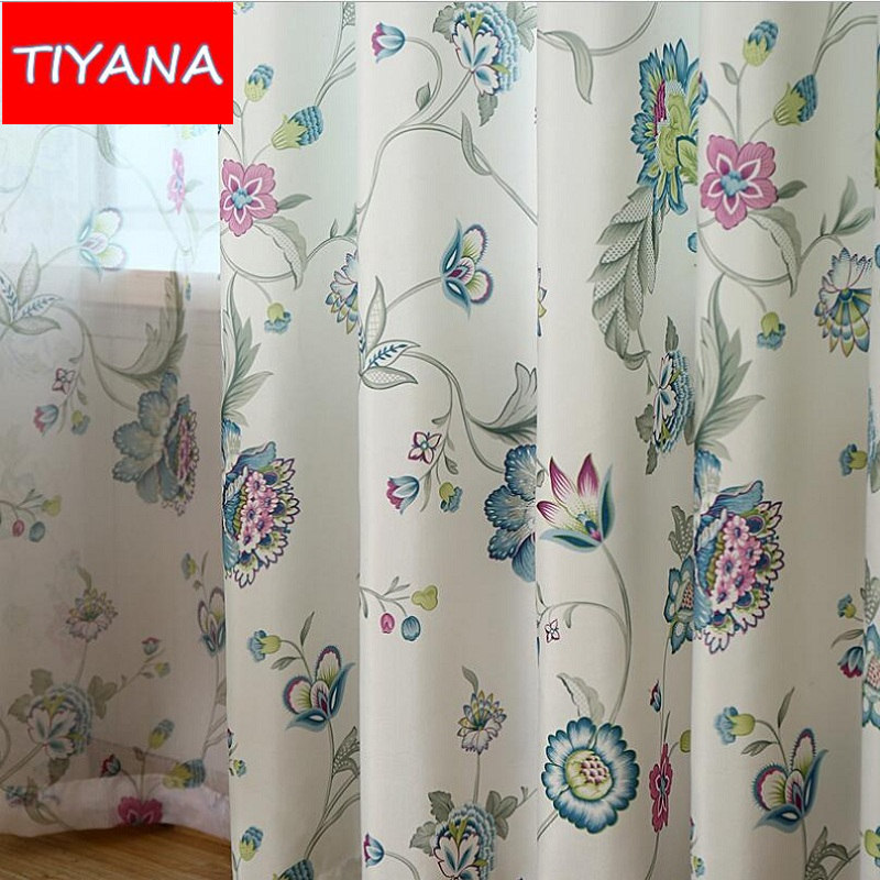 Modern Bedroom Curtains Pink Floral Leaves Curtains For Living Room Bedroom  Kitchen Window Semi Blackout