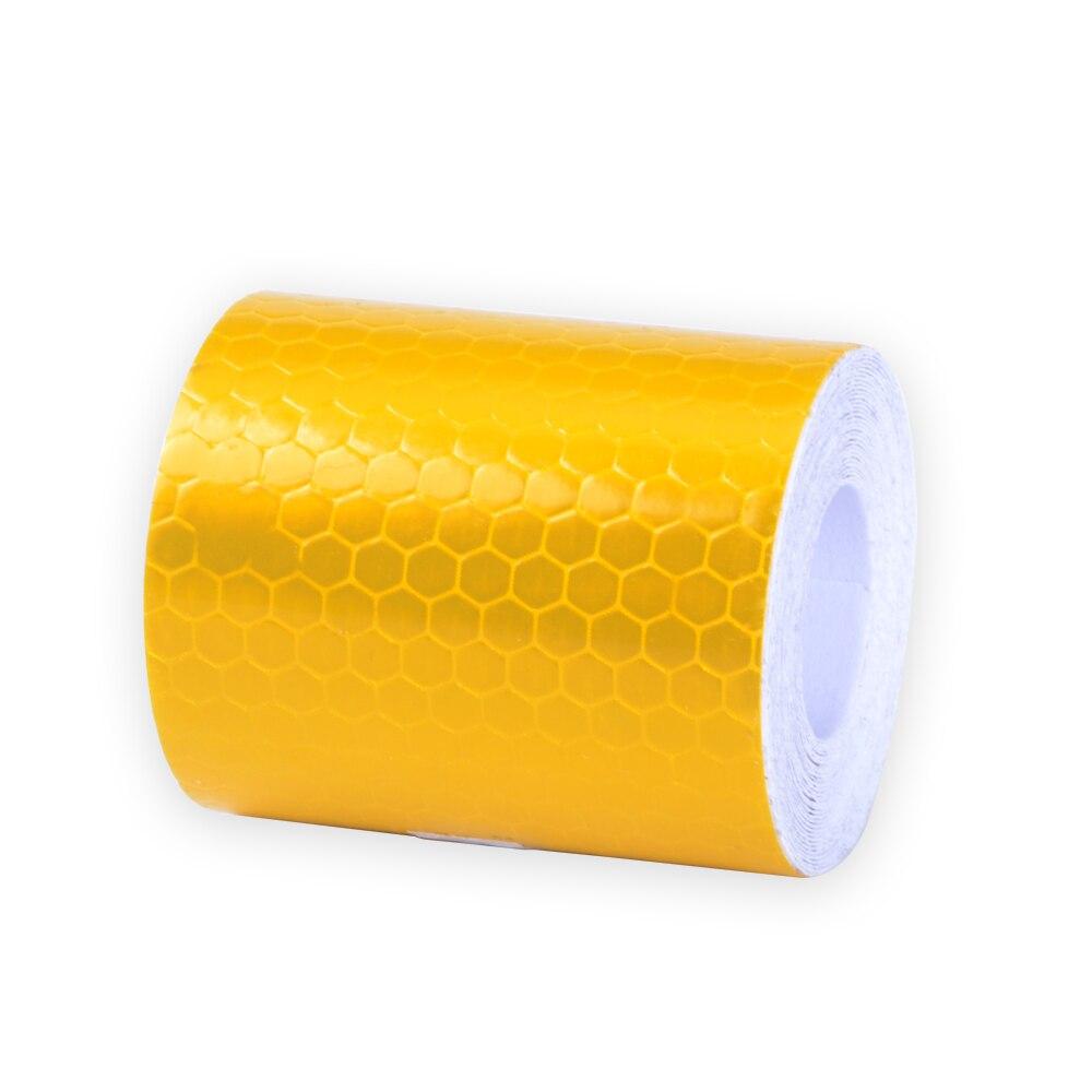 5 cm X 3 m Piccola Piazza Self-Adesivo Riflettente Nastro di Avvertimento Con Giallo Bianco Per Auto Warn Sticker adesivi di sicurezza
