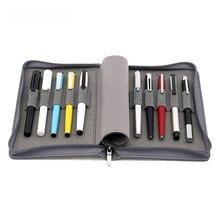 をalio kacoペン収納袋防水黒グレー 10 ホルダー 20 ホルダー鉛筆ケースコレクションバッグ高級ペン