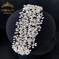 New Silver/Gold Rhinestone Crystal Handmade Fashion Headband Royal Bridal Wedding Dressing Crown Accessory Women Jewelry