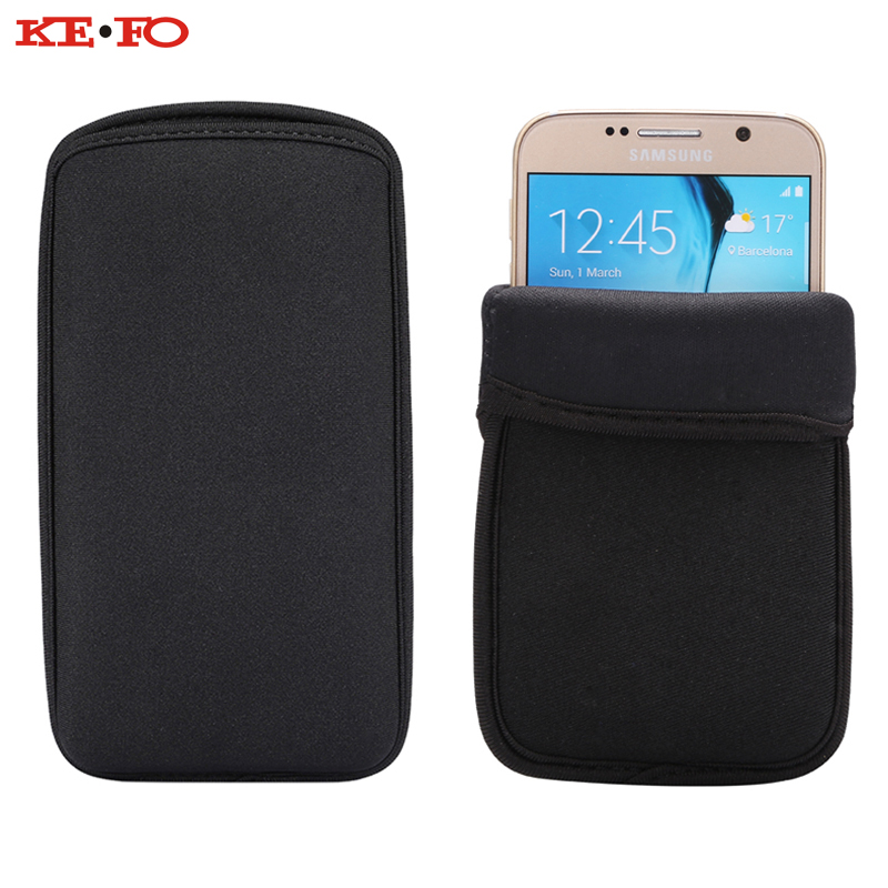 KEFO Neoprene Protective Phone Case Universal Sleeve Pouch Bags For Samsung Galaxy S9 Plus S3 S4 S5 Mini S6 S7 Edge S8 Plus