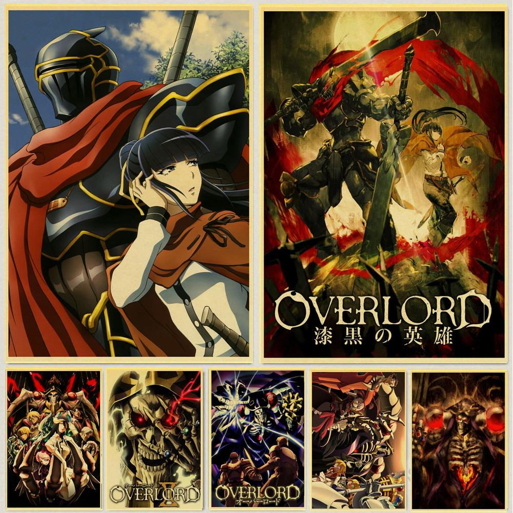 Janpnese Anime Overlord Retro Posters Kraft Wall Paper High Quality Painting For Home Decor Wall Stickers