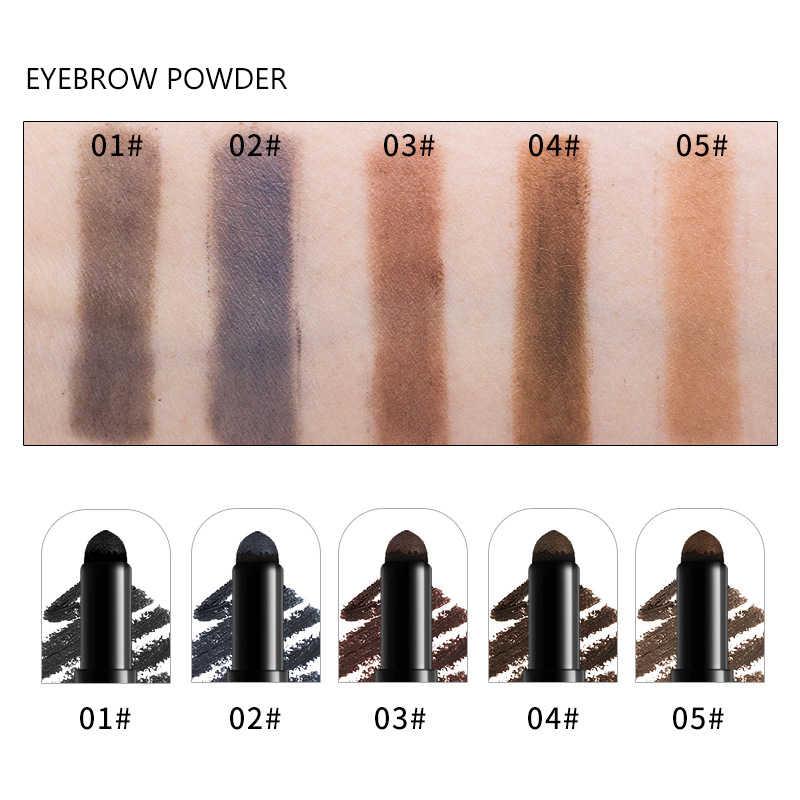 חדש מותג רב תפקודי עמיד למים איפור גבות עפרונות לאורך זמן פיגמנטים שחור חום צבע עיניים גבות עט עם מברשת