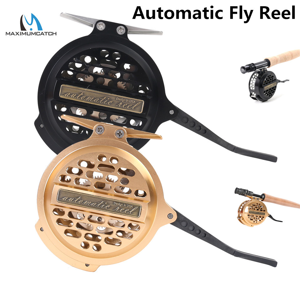 Maximumcatch Super Light Automatic Fly Fishing Reel Silver/BlackY4 70 Aluminum Fly ReelMaximumcatch Super Light Automatic Fly Fishing Reel Silver/BlackY4 70 Aluminum Fly Reel