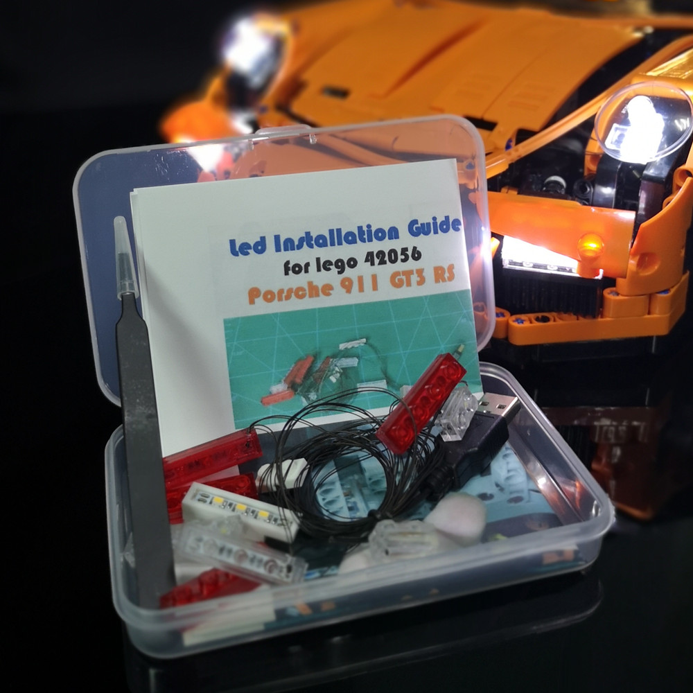 Led Light kit (only light included ) for lego 42056 and Compatible with 20001 TECHNIC 911 (not includ car bricks set led light up kit only light for lego 10243 and 15010 creator parisian restaurant building bricks set not included