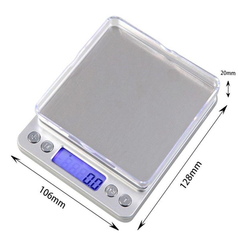 Cuisine Échelles 3000g x 0.1g Mini Portable Numérique pour Balance De Poche 3 kg 0.1 Précision Bijoux Balance Électronique poids Or Gram