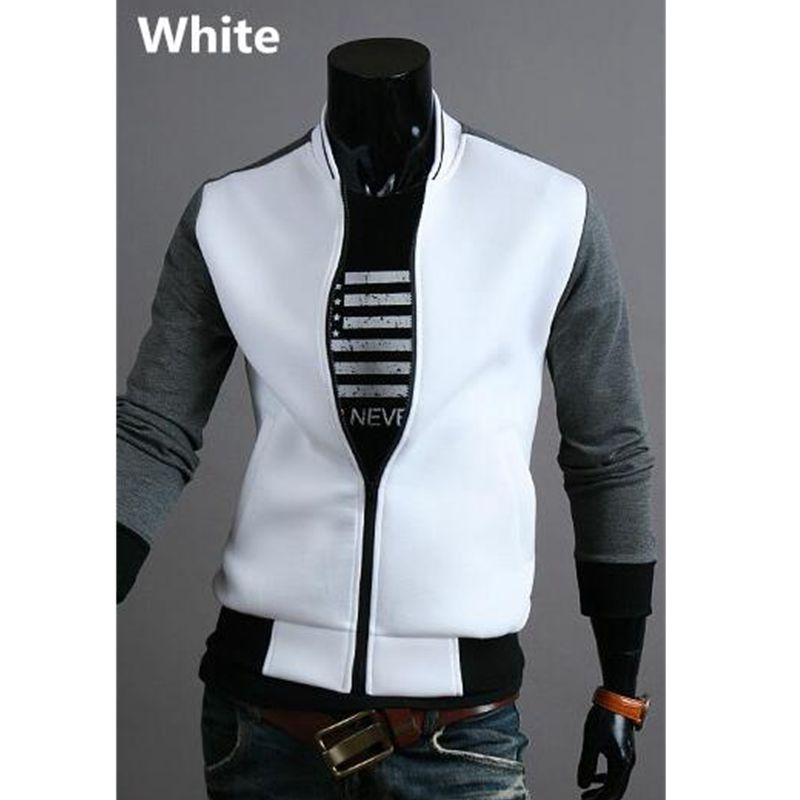 Cool College Baseball Jacket Men 2016 Fashion Design Black