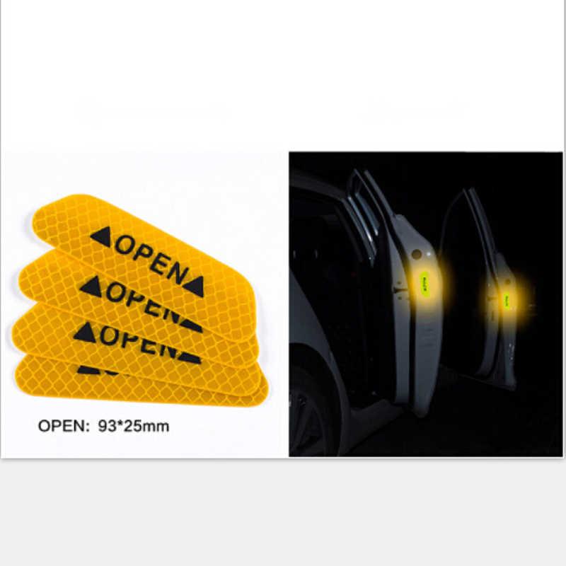 4 個車のドアの安全警告反射ステッカーオープンフォルクスワーゲン VW ティグアンカブトムシポロボラ T-ROC ジェッタ T
