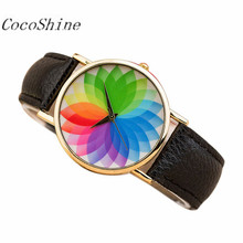 CocoShine A-898 Summer New Product Woman Seven Color Lotus Leather Watch Quartz Watch!Support  Wholesale wholesale