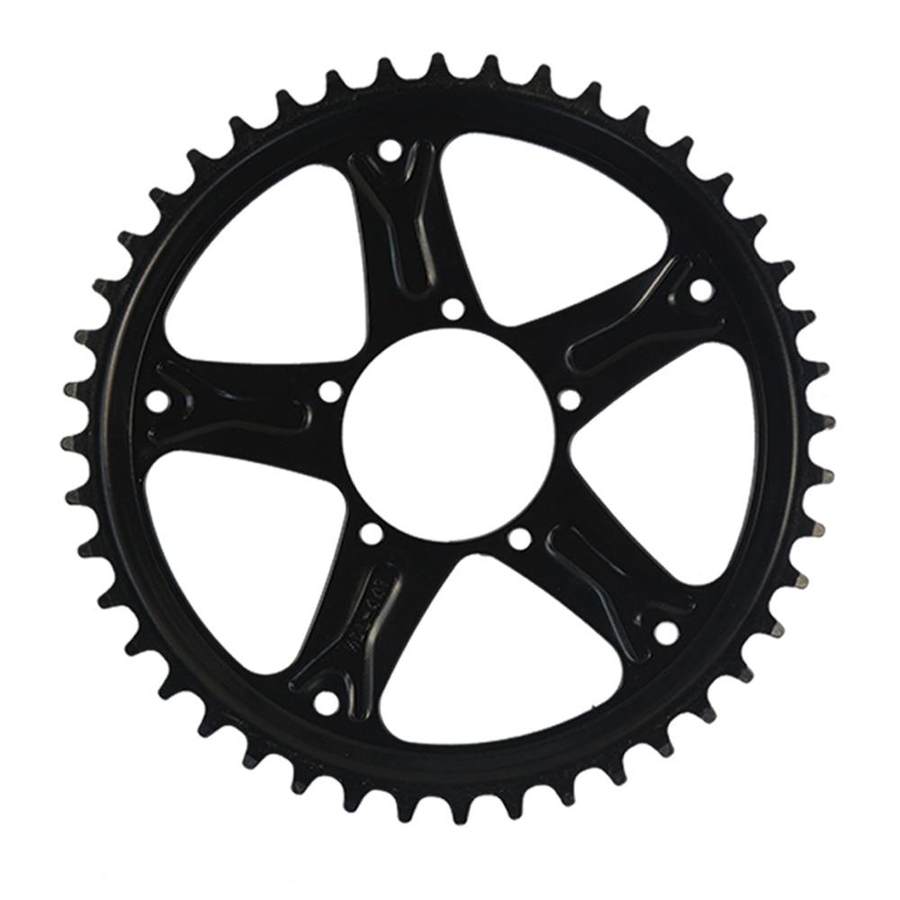 Electric BIKE BBS01 BBS02 BAFANG Chain Wheel and Replacement Chain Guard Black 46T 48T 52T Chainwheel Teeth Black