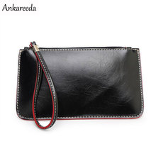 Ankareeda Hot High Quality PU Leather Wallet Coin Purse Clutch Designer Luxury Women's Clutches Women Evening Bags
