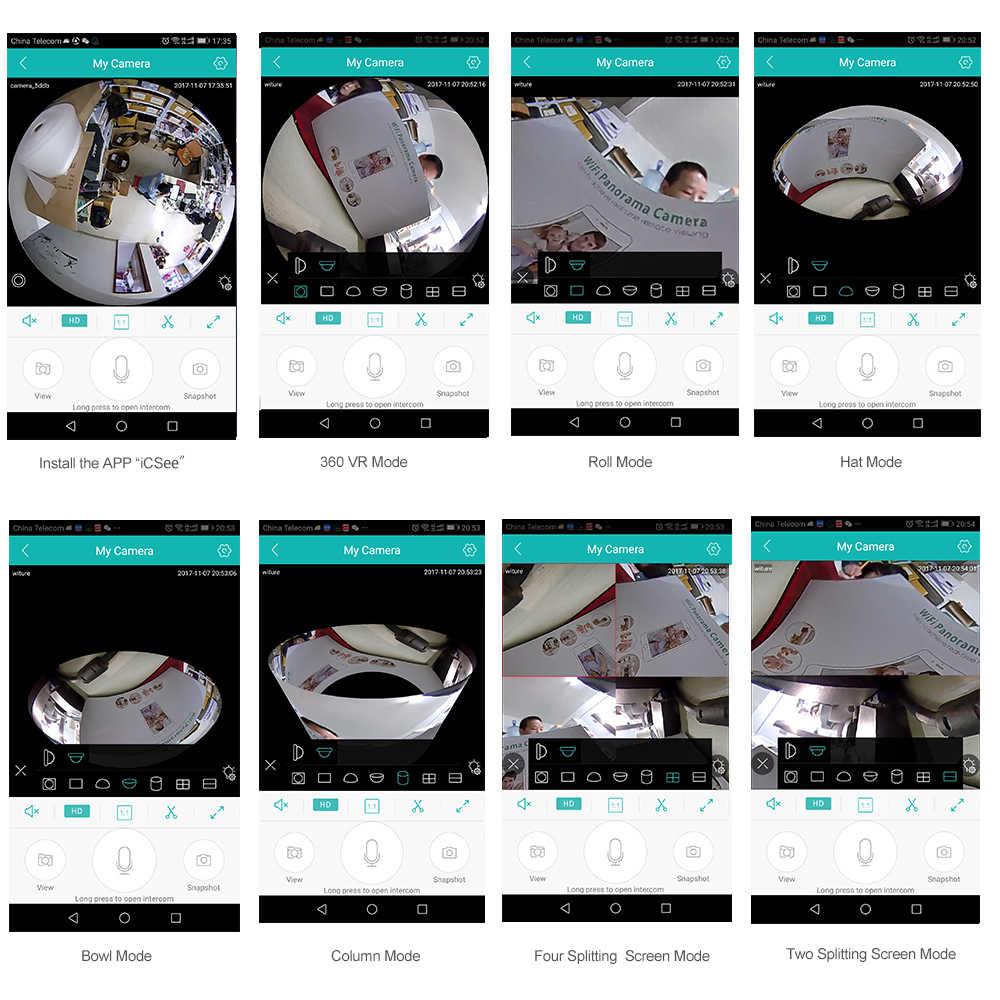 Лампочка камера Wifi Беспроводная ip-камера 960 P панорамная рыбий глаз домашняя камера видеонаблюдения 360 градусов ночное видение запись на карту tf