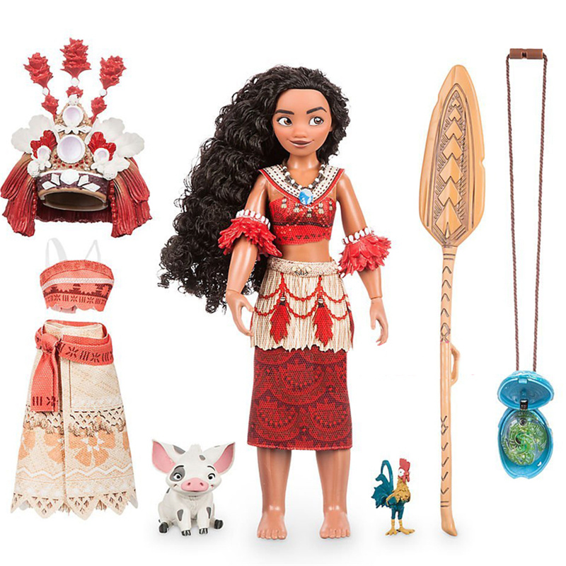 New Princess Moana Doll Kawaii Moana Light & music Change clothes Moana <font><b>Action</b></font> Figure Toy Christmas Birthday Gifts For Baby&Girl