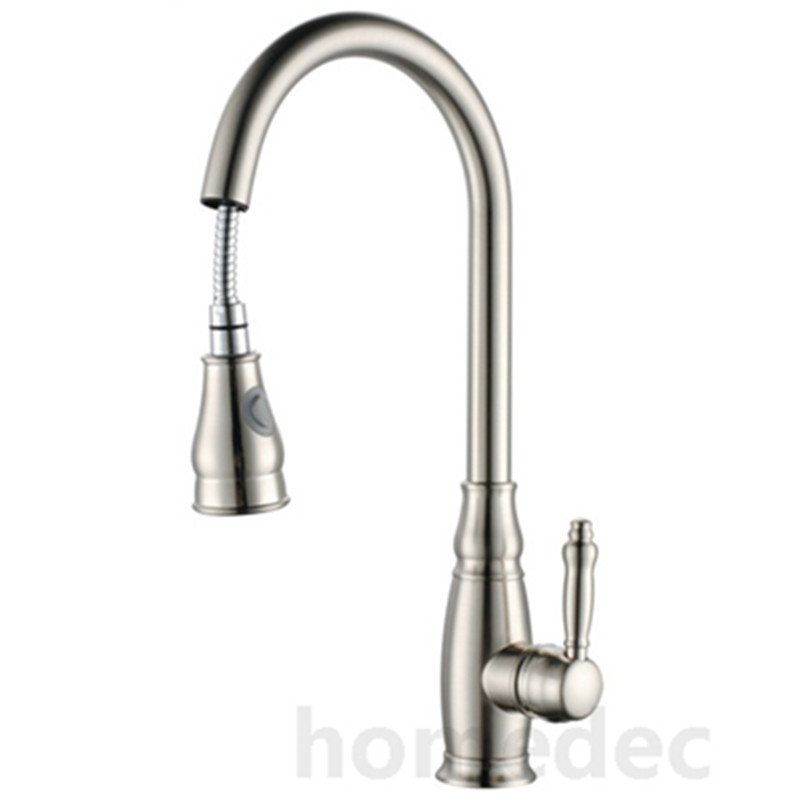 Pull Out Faucet Sink For Kitchen Brass Nickle The Faucet In The Kitchen Mixer For Hot And Cold Dishes Double Spout Faucet kitchen mixer tap kitchen pull out faucet brass nickle cold and hot two spouts kitchen faucet double tap shower torneira cozinha