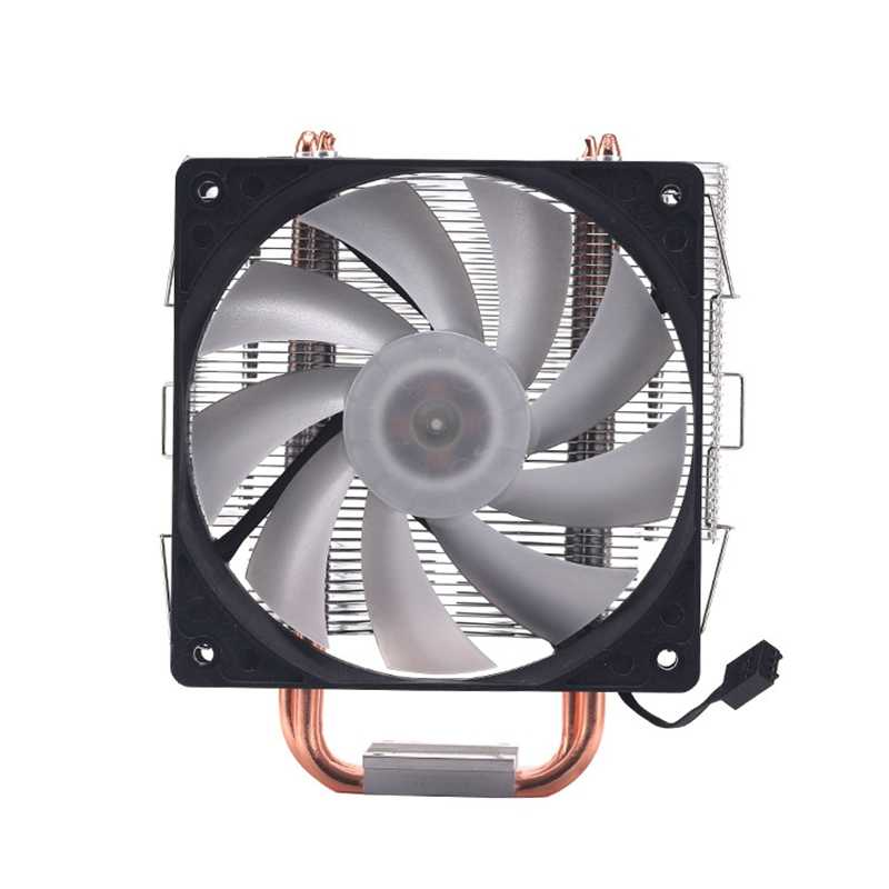 12Cm 4 Pipa Panas 4 Pin Kipas Tunggal dengan Cahaya CPU Fan Cpu Heatsink untuk Intel 775/1150 /1155/1156/1366 untuk ADM Semua