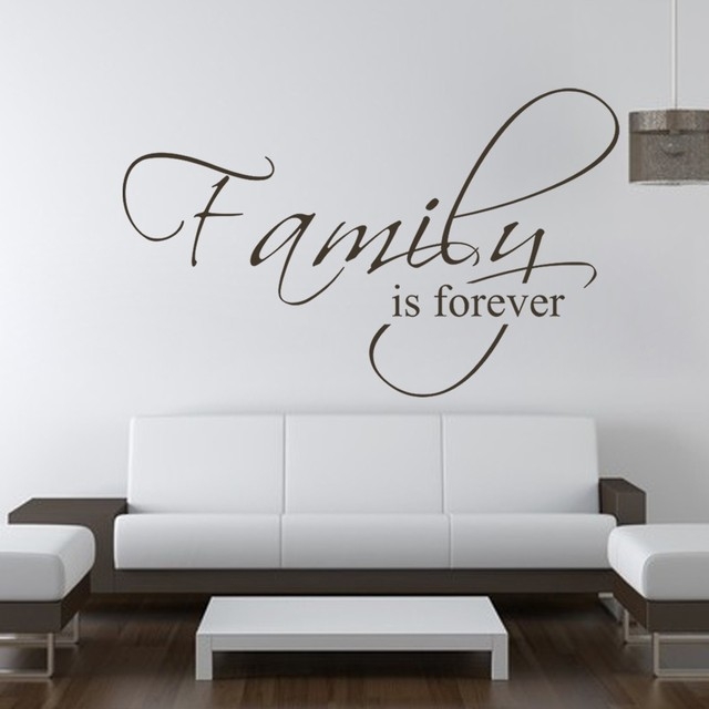 familie is forever slaapkamer decals muurtattoo citaat vinyl tekst stickers art graphics 28 x