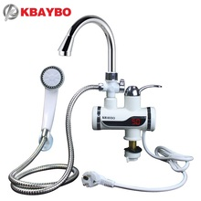 3000W Water Heater Bathroom / Kitchen instant electric water heater tap LCD temperature display Tankless faucet A-088