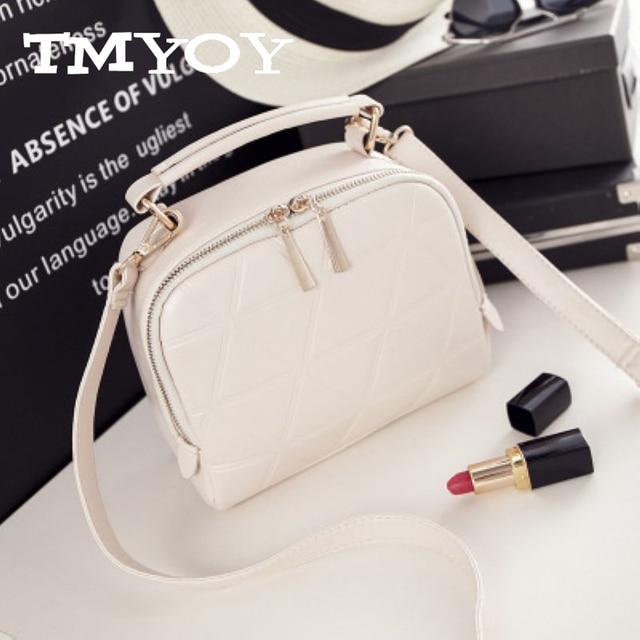 TMYOY Bolsas New Fashion Women Solid PU Leather Handbag Chain Shoulder Lady Messenger Bag Candy Color Crossbody Bags VH172