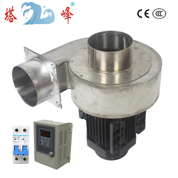 цена на 250w 304 Stainless steel blower fan 220v Corrosion high temperature resisting with round pipe VFD stepless speed regulating
