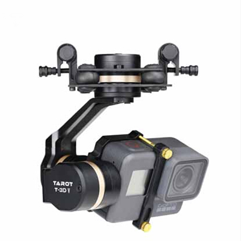 Tarot 3D V Metal 3 axis PTZ Gimbal  for Gopro Hero 5 Camera Stablizer TL3T05 for FPV System Action Sport Camera fpv ptz gopro zenmuse h3 3d gimbal carbon fiber adapter plate mounting board for spreading wings s800 s1000 tarot t810