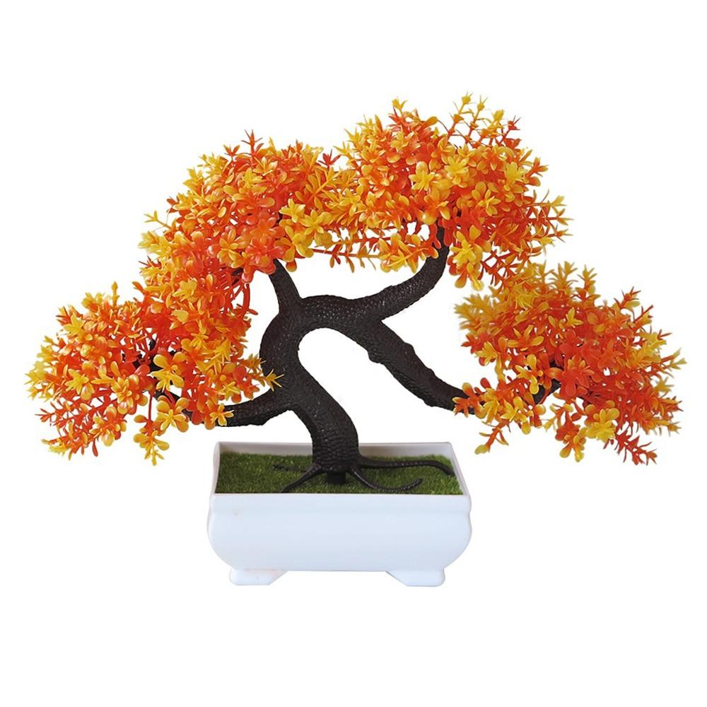 Искусственные растения искусственный цветок растения бонсай сад отель садовый декор Мода красивый ручной работы ДРАКОН борода дерево - Цвет: Evening red