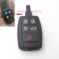 5 düğmeler araba anahtarı kabuk durumda Volvo C30 C70 S40 V50 yeni yedek anahtarsız giriş uzaktan anahtar kabuk kesilmemiş bıçak hiçbir Logo