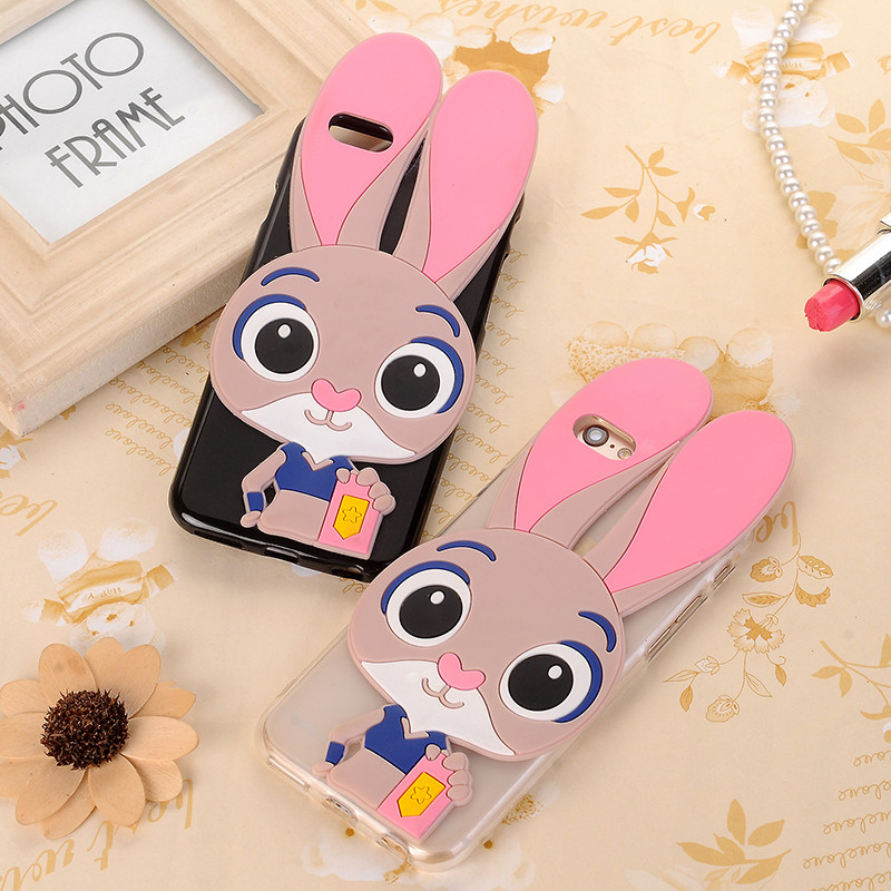 3D Rabbit Teddy Bear Soft Silicone Case For ZTE Blade A511 A 511 ZTE Blade A515 A 515 Cover Cartoon Minnie Mouse Stitch Funda
