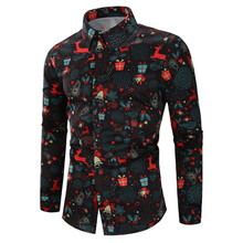 Left ROM Fall Winter Stand Collar Mens Long-sleeved Dress Shirts Black Red White Slim