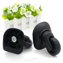 2 pcs Left & Right Replacement Luggage Travel Bag Wheels Universal Wheel Spinner Black Wheels for Any Bags Swivel W068