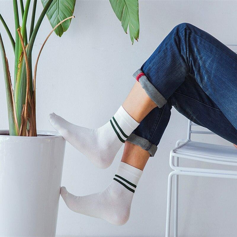 US $1 04 50% OFF 2019 NEW Classic Men Girls Two Stripes Cotton Socks Retro  Old School Student Hiphop Skate Fashion Female white harajuku Korean-in