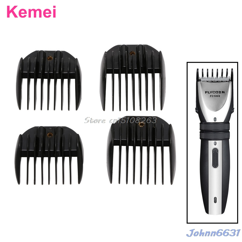 Set 4Pcs Professional Electric Hair Clipper Trimmer Guide Comb Attachment #Y207E# Hot Sale new 680w sheep wool clipper electric sheep goats shearing clipper shears 1 set 13 straight tooth blade comb