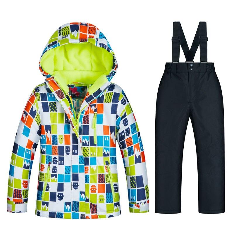 2019 nouveaux garçons Ski costumes imperméable chaud hiver Snowboard veste Ski et Snowboard costume neige veste pour enfants marques