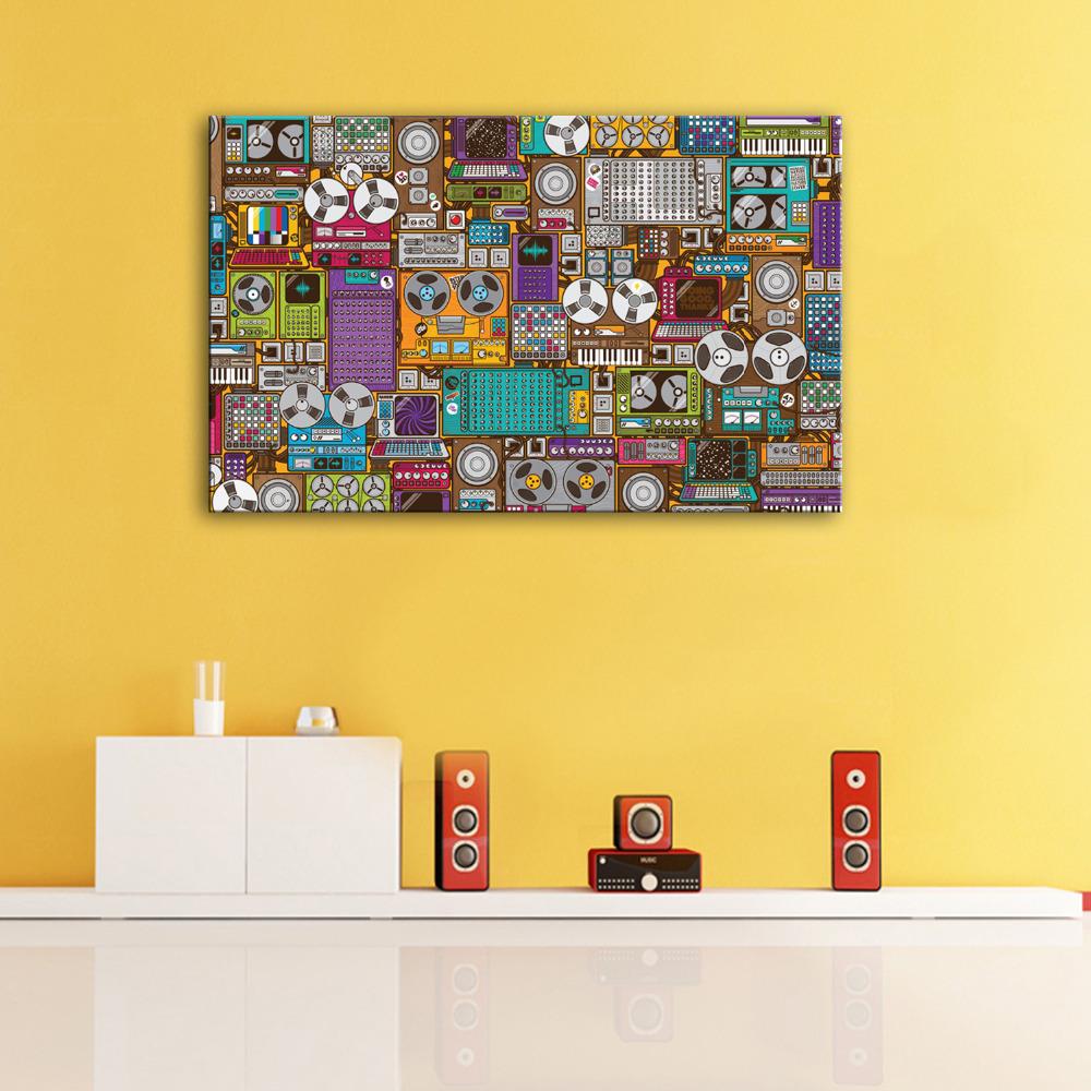 hd pintura al leo elementos musicales decoracin decoracin para el hogar pintura sobre lienzo de arte
